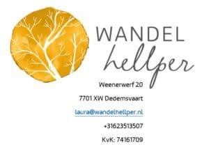 logo Wandelhellper met contactgegevens